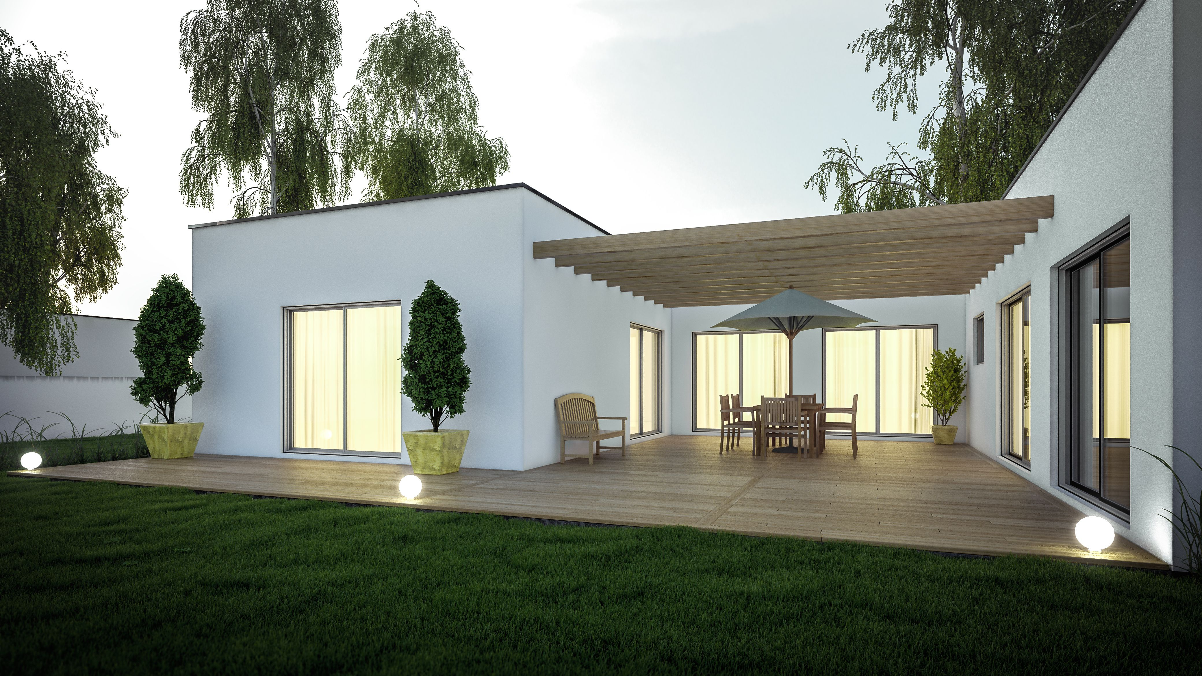 Mod le zen by cybel extension pergola sur terrasse et pr au domov en 2019 maison - Extension sur terrasse ...