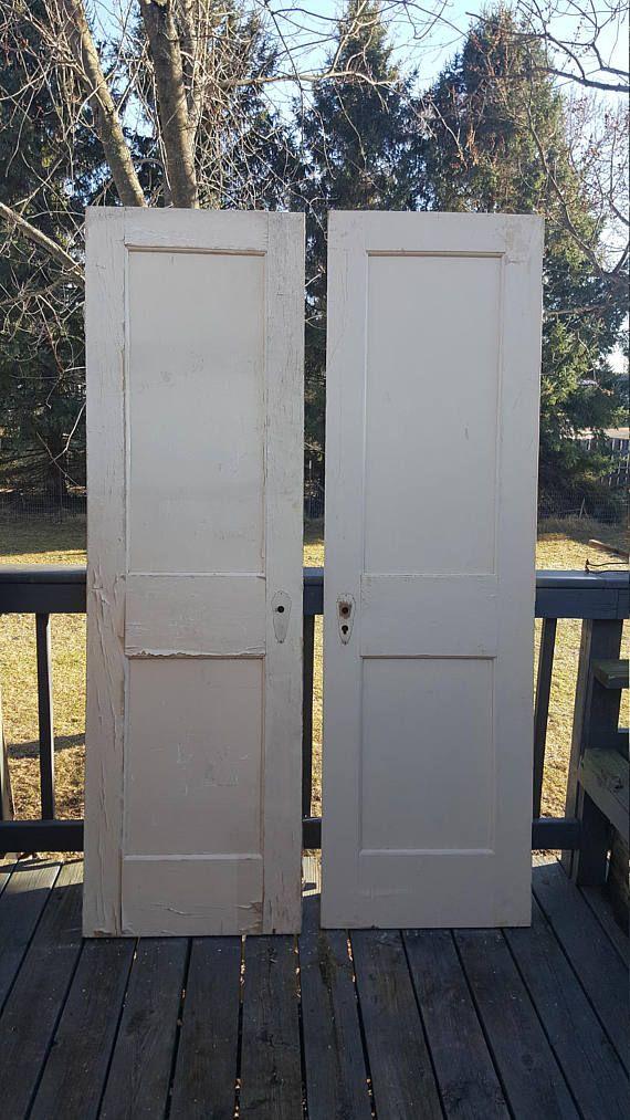 Old Wood Doors Pantry 24 Wide By 80 Tall Ea 129 Ea Great Price Could Be Painted Wood Closet Doors Old Wood Doors Vintage Doors