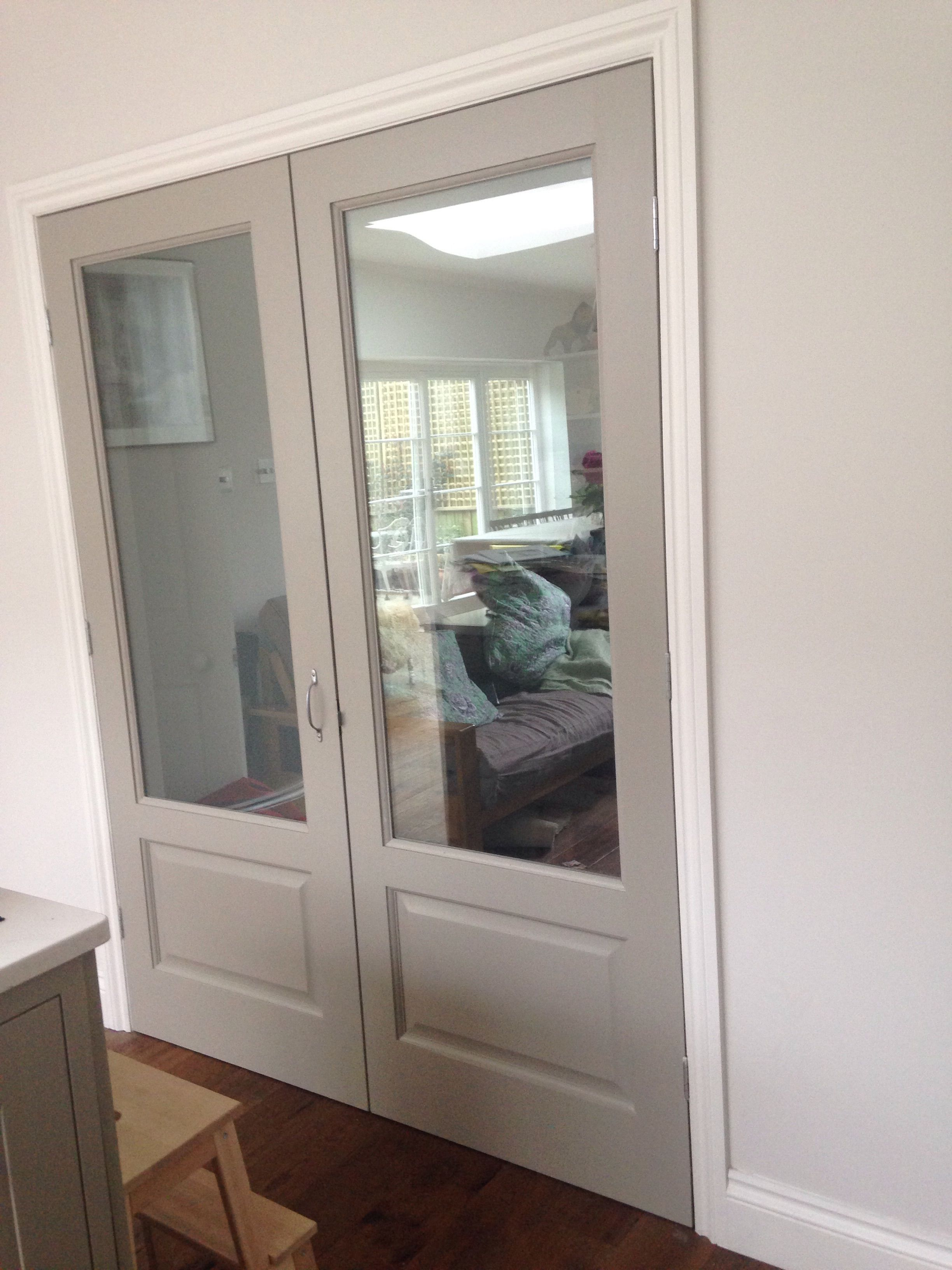 My Glazed Double Doors Painted Hardwick White By Farrow And Ball