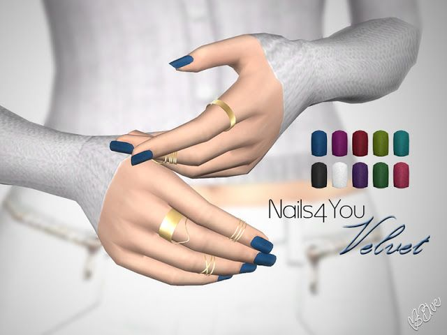 Sims 4 CC's - The Best: Nails4You Velvet by Ms Blue #nailblue