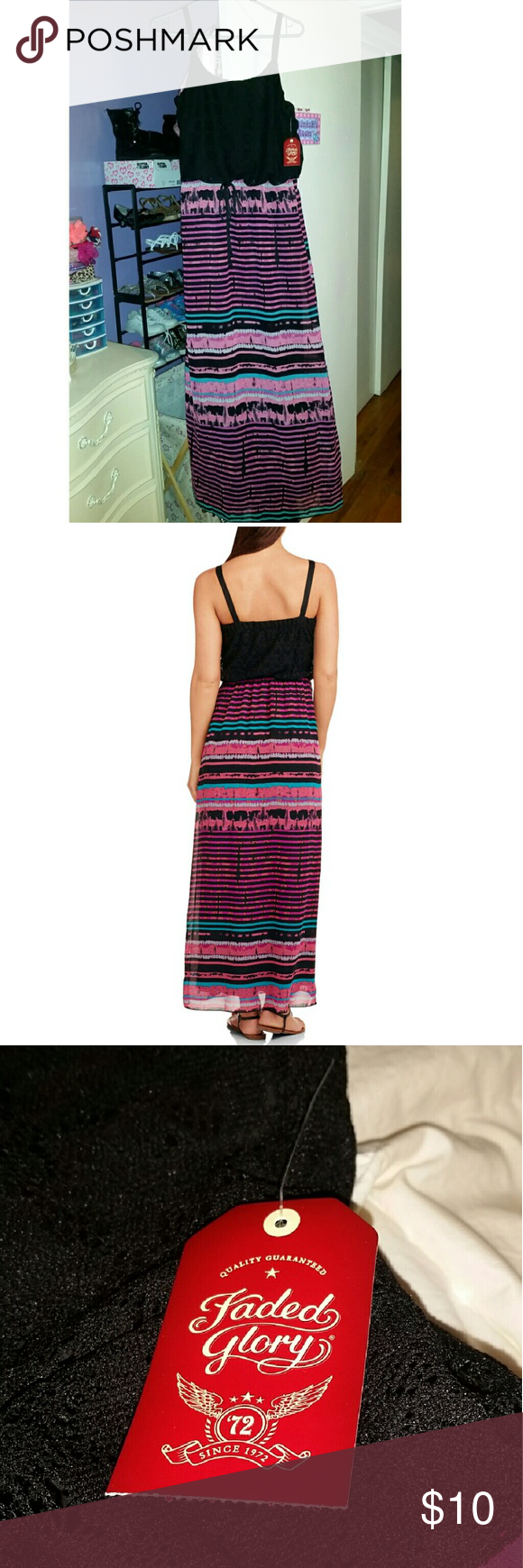 Faded glory womenus maxi dress this is a brand new never worn tie