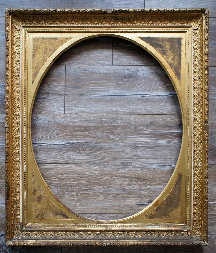 Bilderrahmen alt vergoldet Portrait Spiegel Wand-Rahmen antik museal ...