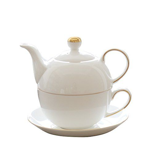 Jomop Teapot Cup And Saucer Set Tea For One White Details Can