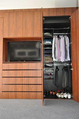 Internals and tv wardrobe luxury modern built in also spaceworks on pinterest rh