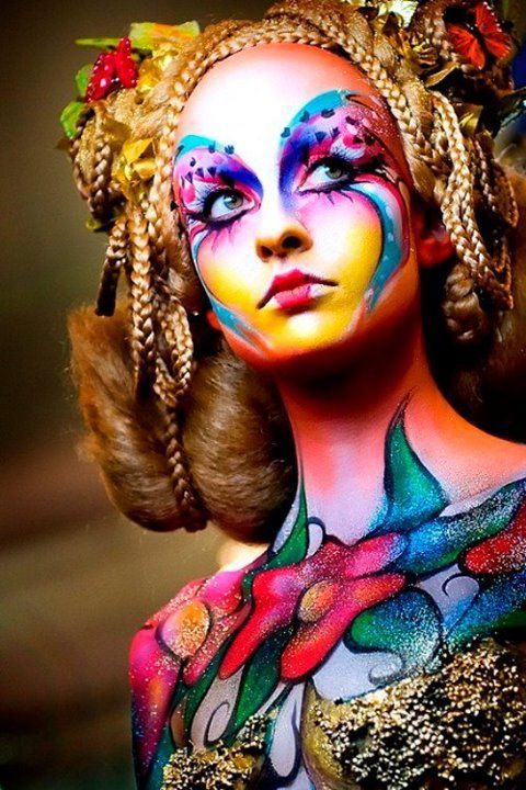 body paint   ornave body @rt h.es   pinterest   maquillaje corporal