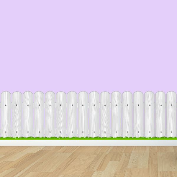 Wood Fence With Grass Wall Decal Wall Decal World Wall Decals Flower Wall Decals Wood Fence