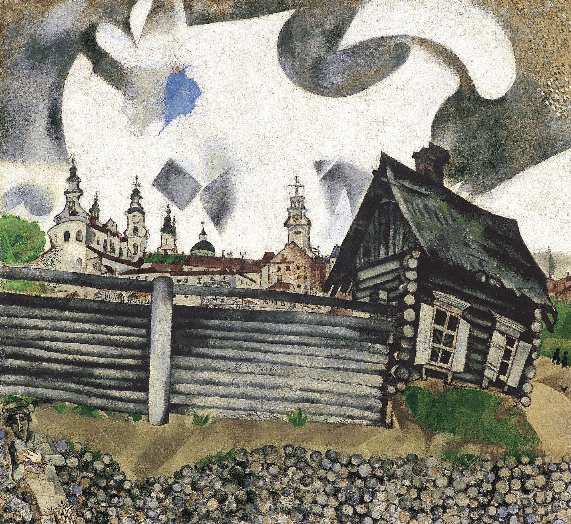La casa gris - Marc Chagall   Museo Thyssen