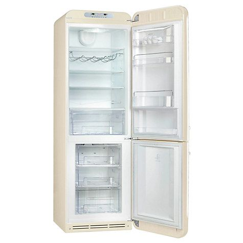 Buy Smeg FAB32RNC Freestanding Fridge Freezer, A++ Energy Rating, Right-Hand Hinge, 60cm Wide, Cream Online at johnlewis.com