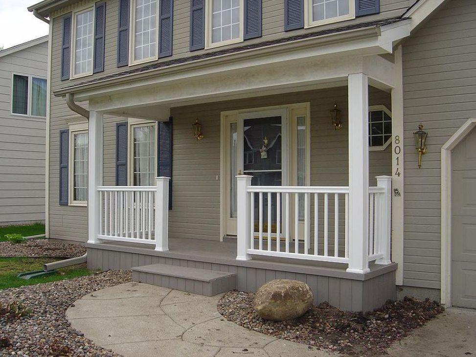 Modern Front Porch Rails Design Ideas 67 | Front porch ...