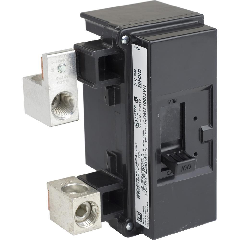 Square D Qo 100 Amp 10ka 2 Pole Bolt On Qom2 Frame Size Main