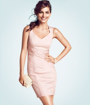 Hm Pale Pink Tailored Dress I Love The Neckline Of This Dress