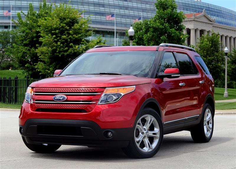 Ford Explorer Suv Red Color Car Picture Site Pinterest