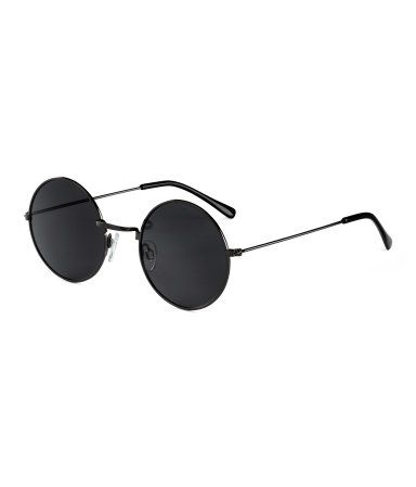 6c64cd5e97618 Round sunglasses with metal frames and UV-protective tinted lenses.