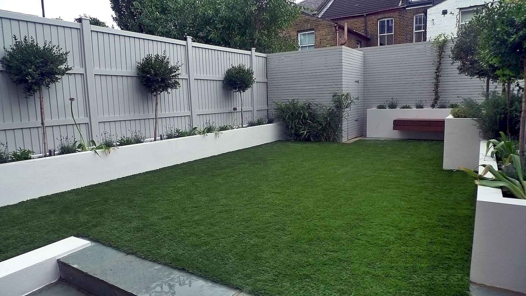 70 Awesome Small Garden Landscaping Ideas Homekover Garden Design Ideas Uk Modern Garden Design Garden Fence Paint