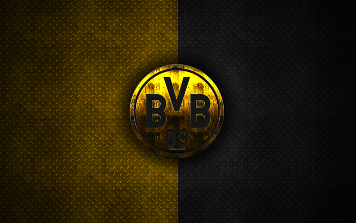 Download Wallpapers Borussia Dortmund Bvb 4k Metal Logo Creative Art German Football Club Bundesliga Emblem Yellow Black Metal Background Dortmund Ger 2020 Borussia Dortmund Dortmund