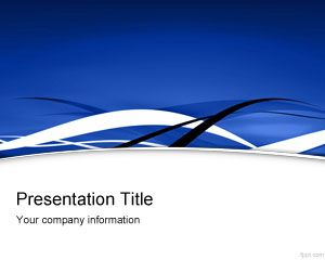 blue fringe powerpoint template is a free background for, Powerpoint templates