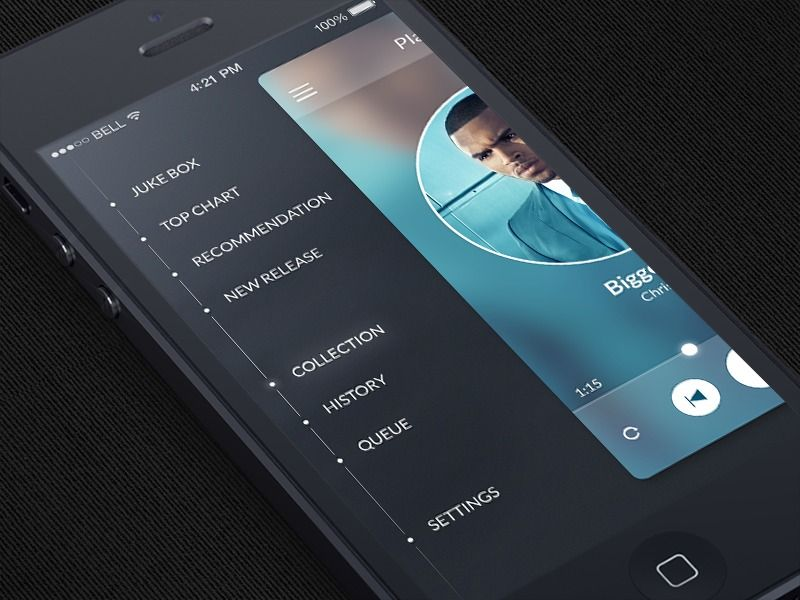 app menu design inspiration
