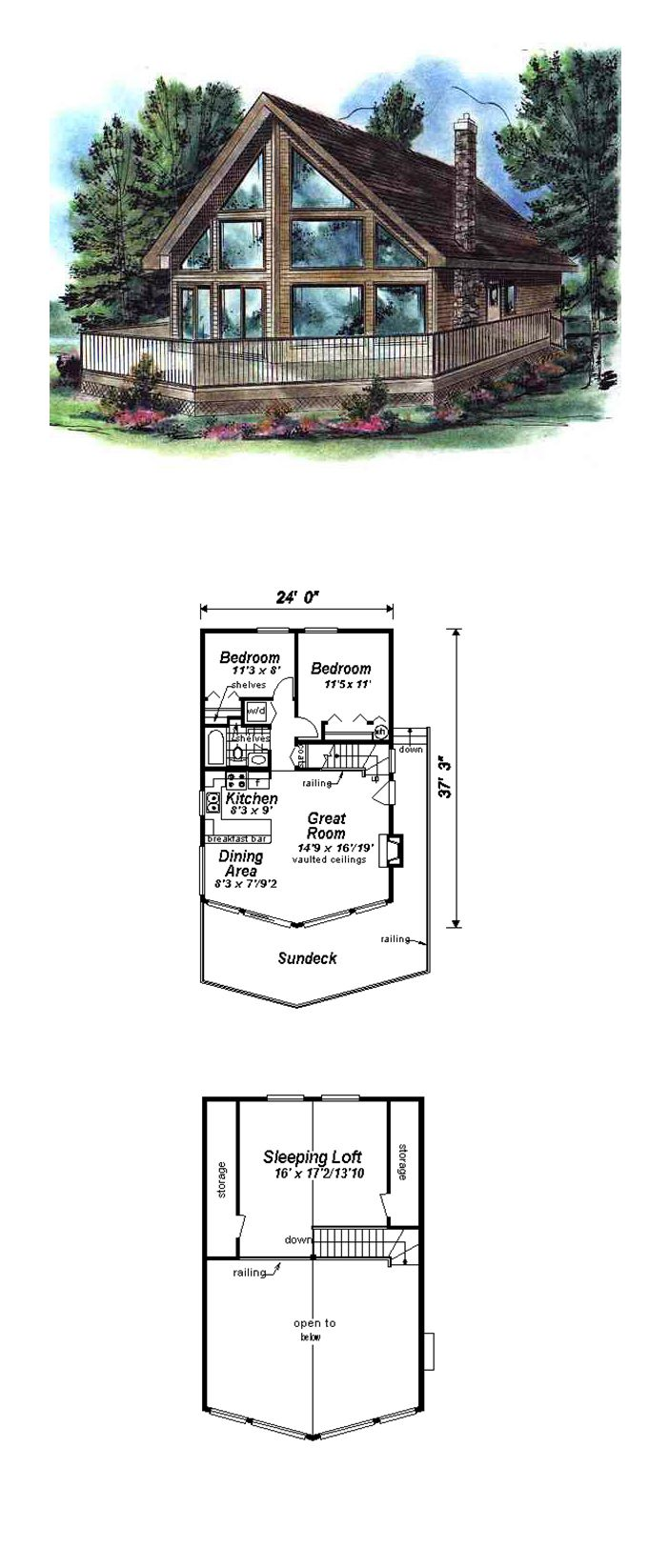 Contemporary Style House Plan 58502 With 3 Bed 1 Bath Lake House Plans Contemporary House Plans Pool House Designs