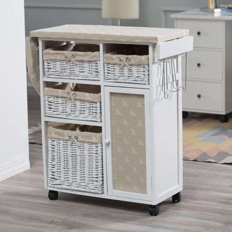 Ironing Board Storage Cabinet Iron Holder Laundry Organizer