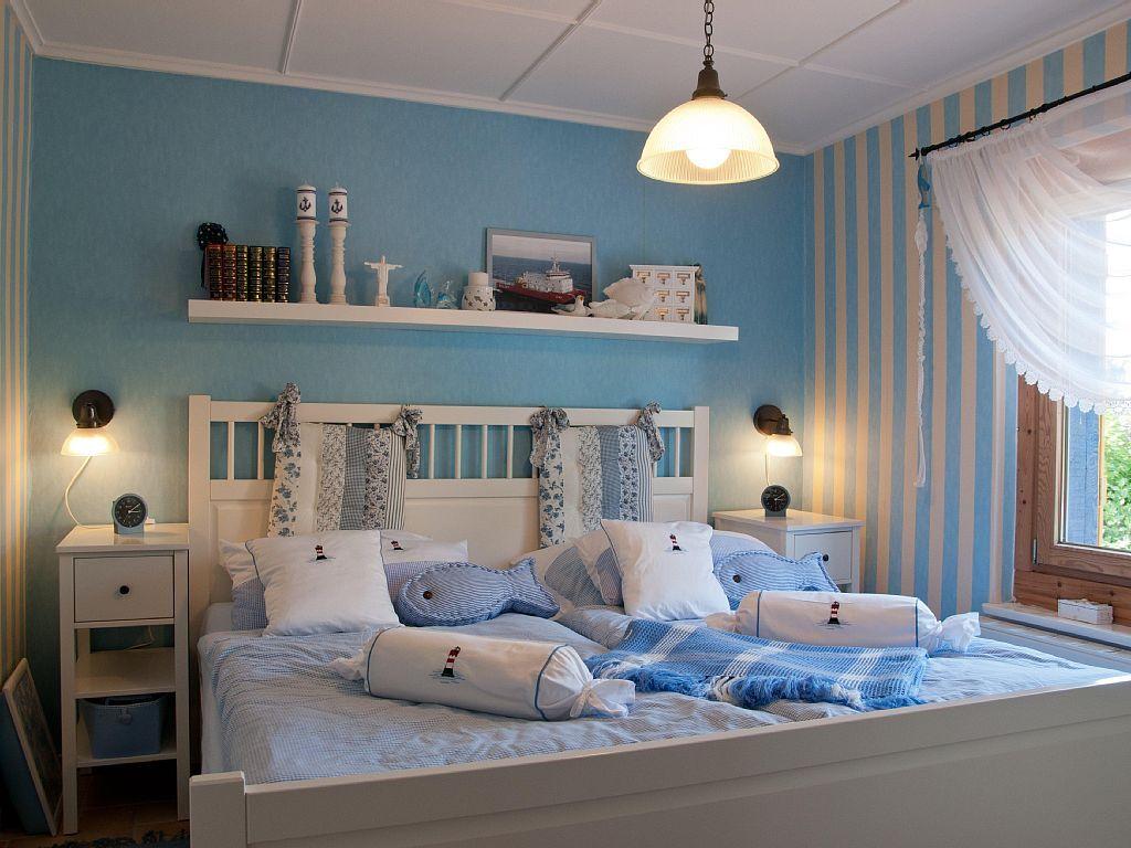 Maritimes Schlafzimmer ~ Blaues haus in wohlenberger wiek: 3 schlafzimmer für bis zu 7