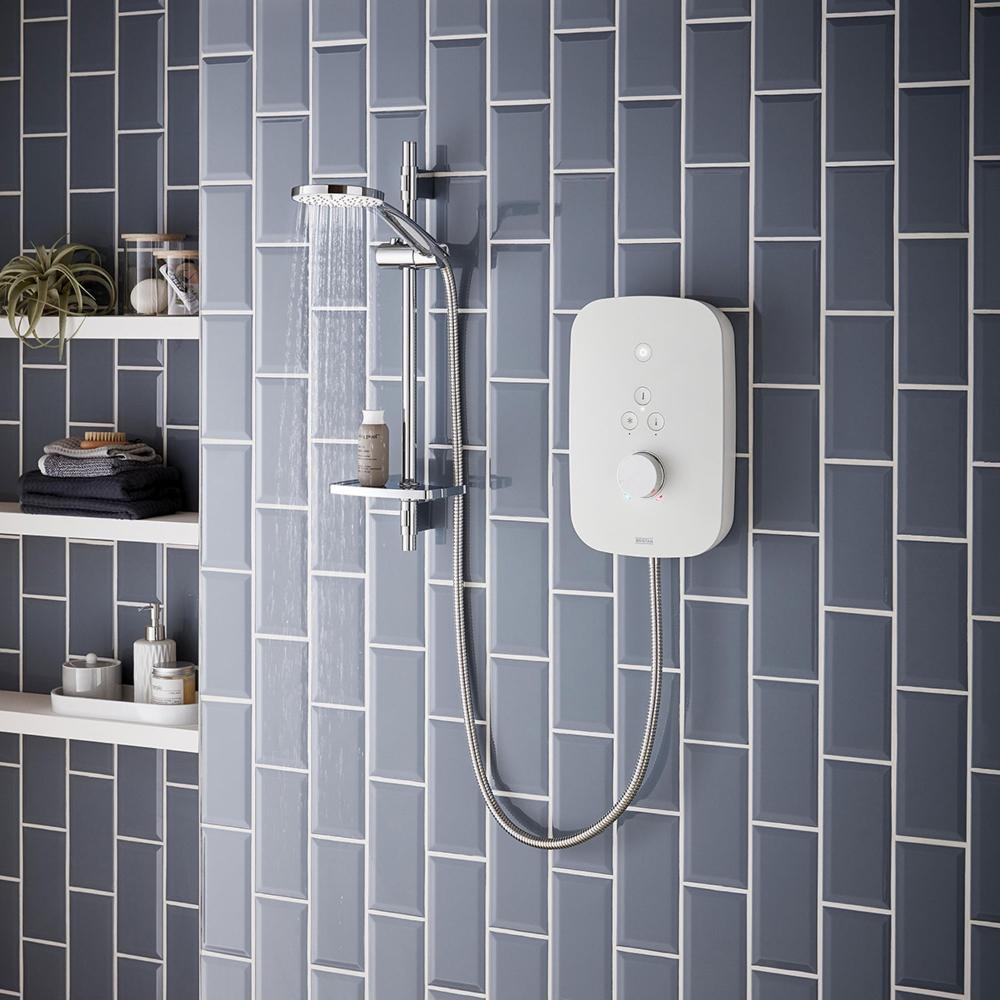 Bristan Solis 8 5kw Electric Shower White Shower Valve
