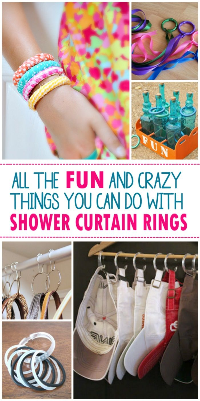 16 Unexpected Ways To Use Shower Curtain Rings Shower Curtain
