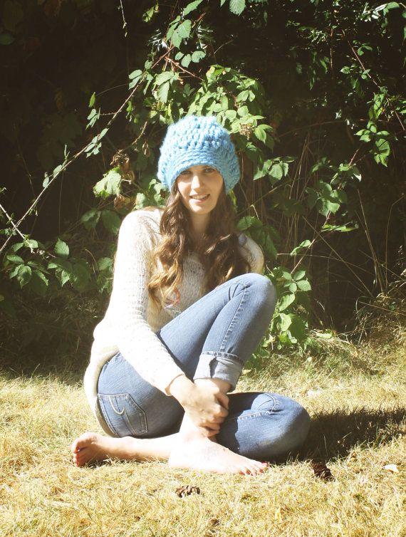slouch hat teenager hat crochet slouch hat by SimplyCuteCrochet, $35.00