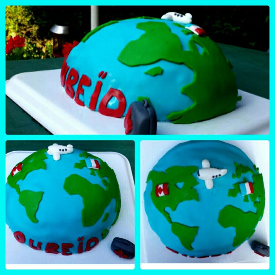 Gateau globe terrestre | Mes gateaux en pâte a sucre ...
