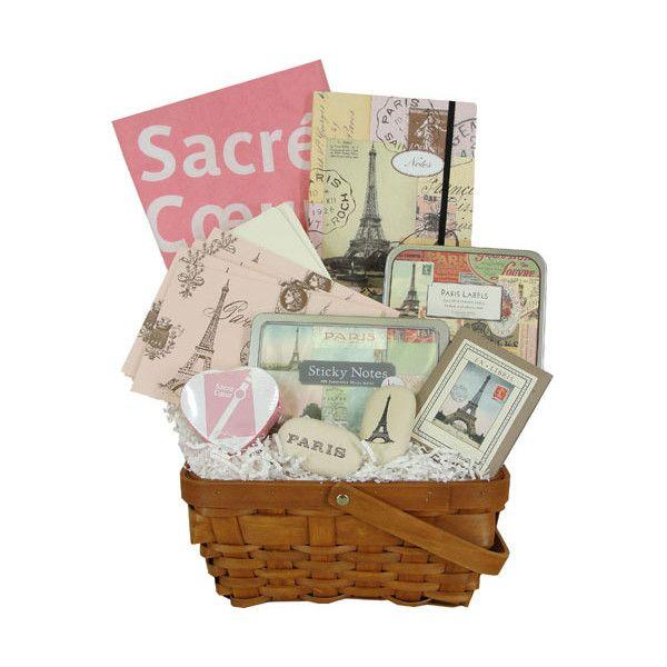 I Love Paris Themed Gift Basket In Pink Or Metro Design