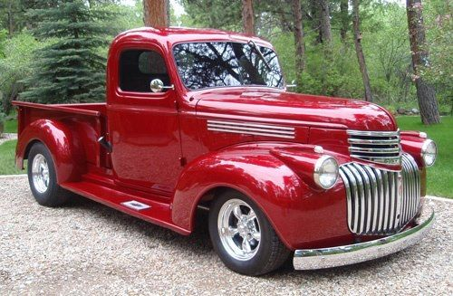 Candy Apple Red 1946 Chevy Trucks Classic Trucks Classic Cars Trucks