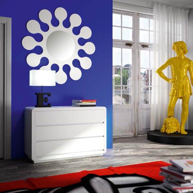 Espejos modernos modelo flower decoraci n beltr n tu for Espejos originales recibidor