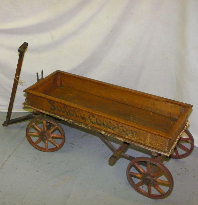 Wood Spoke Coaster Wagon Old Toy Wagons Pinterest
