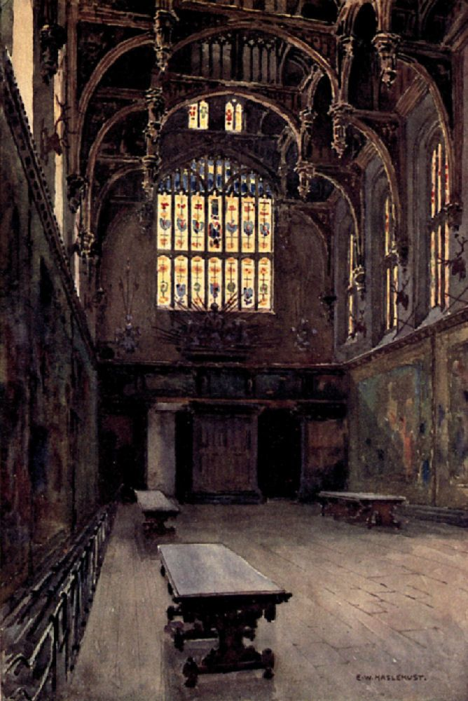 THE GREAT HALL Hampton Court Palace Image From By Walter Jerrold Published In 1912 Notice The Detail Window Panes