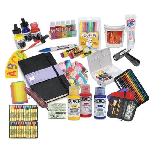 art journal supplies