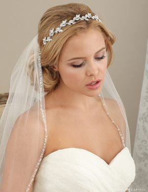 6614 Rhinestone headband with marquise leaves  1e045827d4d