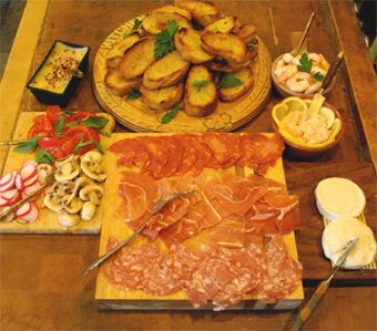 Bruschetta serve yourself buffet