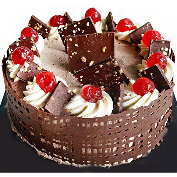 Cherry Gateau Is Made Out Of ChocolateCake