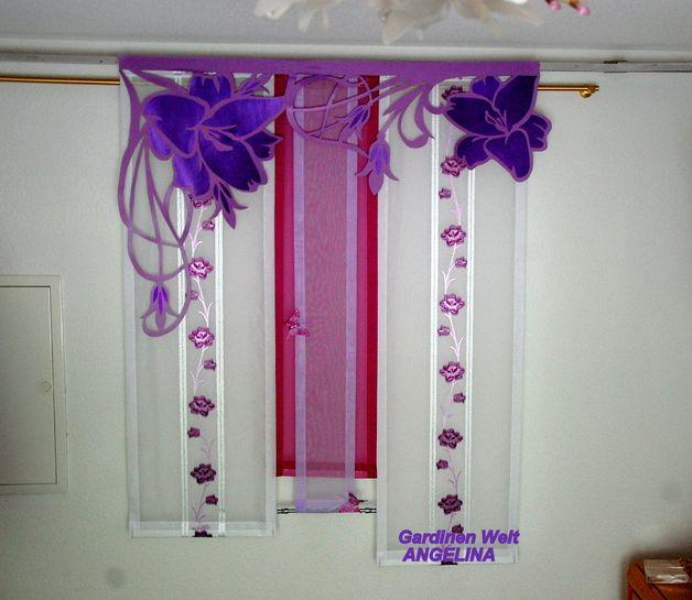 gardinen moderne schiebegardinen ein designerst ck von gardinenweltangelina bei. Black Bedroom Furniture Sets. Home Design Ideas
