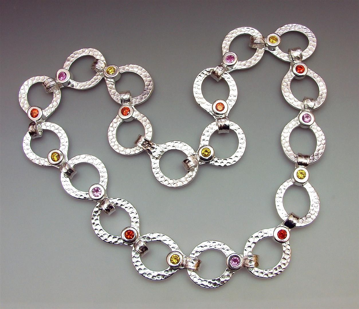 Retro Circles Chain with Joy Funnell #craftartedu | Metal Clay ...
