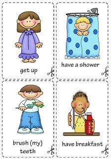 Daily Routine Flashcards Full Blast 1 Share Sha Material Escolar En Ingles Rutinas En Ingles Ingles Basico Para Ninos