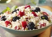 Honey Quinoa with Strawberries, Blackberries and Almonds   #driscolls #sweepstakes