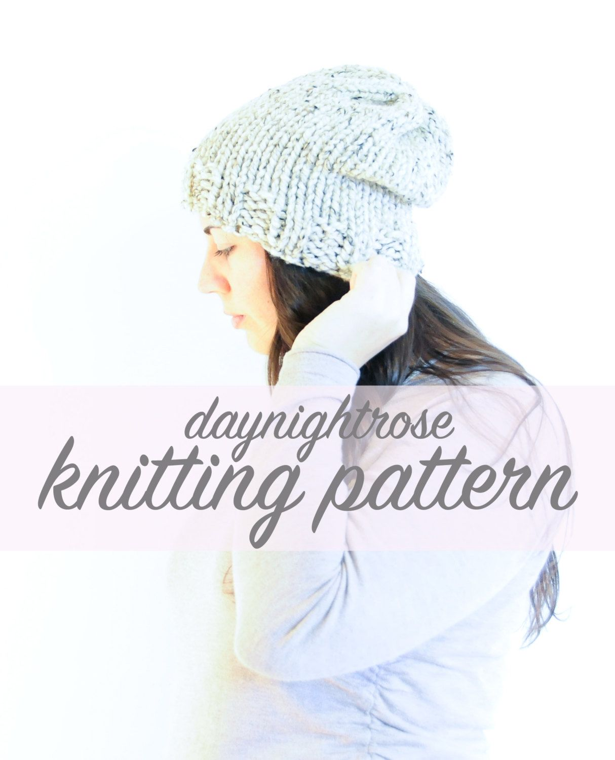 The Canmore Slouchy Toque - Knitting Pattern by daynightrose on Etsy
