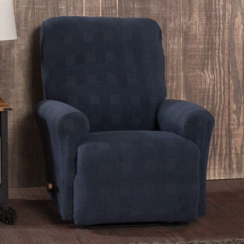 Stretch Sensation Stretch Plaid Recliner Slipcover Dark Blue & Stretch Sensation Stretch Plaid Recliner Slipcover Silver ... islam-shia.org