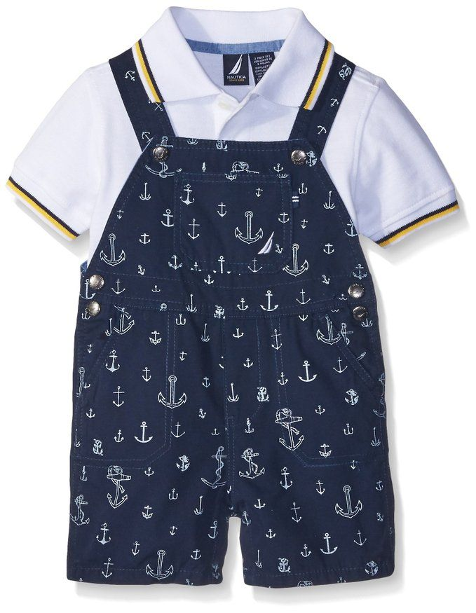 Amazon.com: Nautica Baby Boys' 2 Piece Polo Shortall Set: Clothing