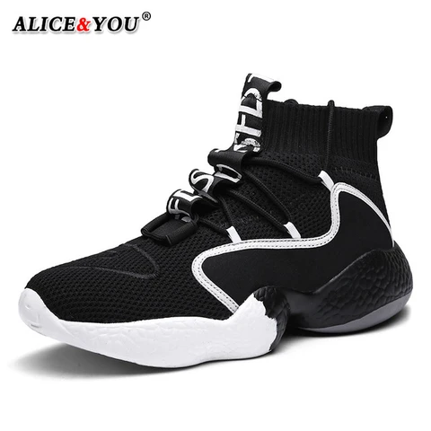 lightweight thick sole fashion black white colorful shoes