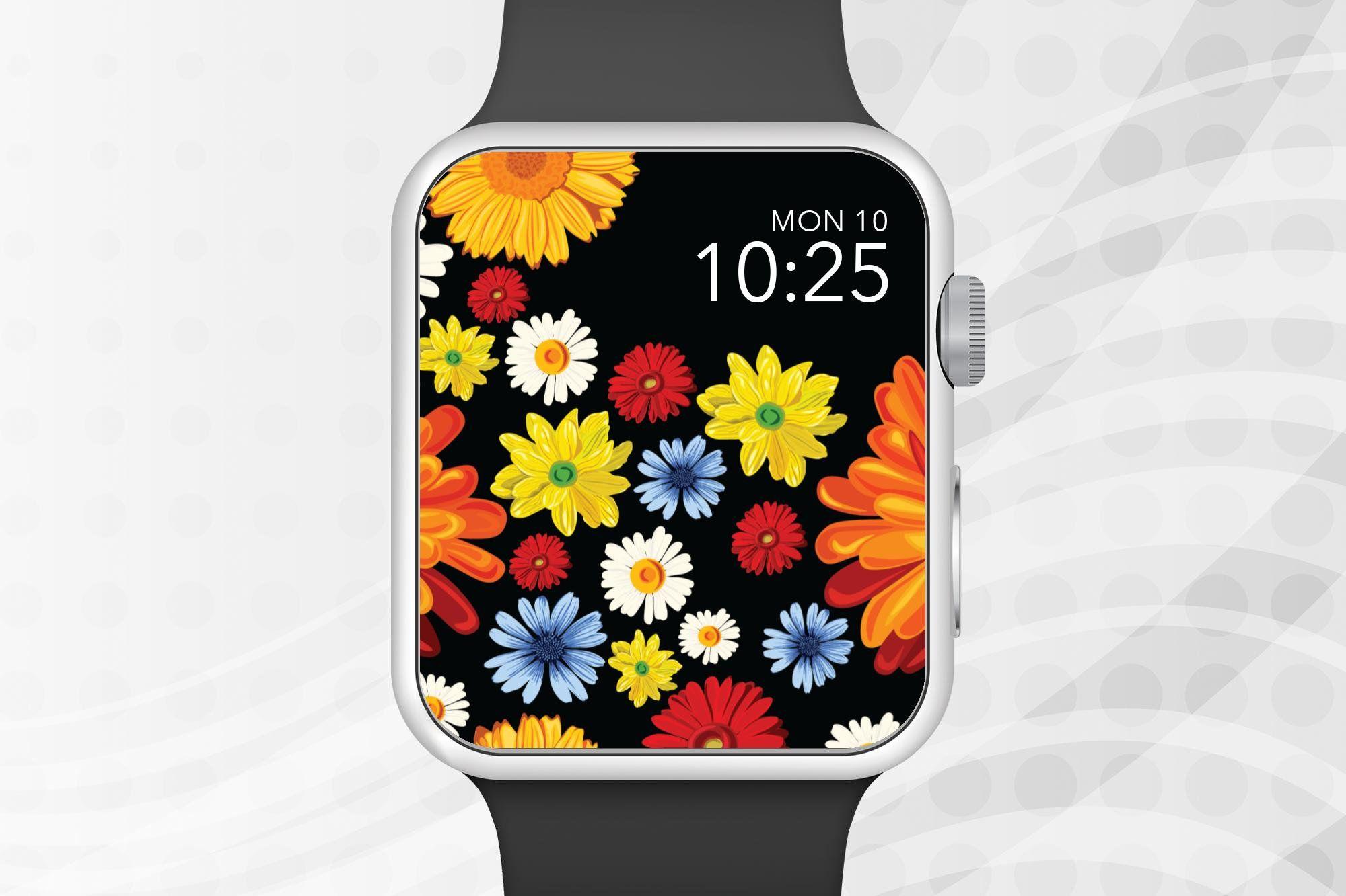 Apple Watch Wallpaper Colorful Flowers Apple Watch Face Etsy In 2021 Apple Watch Wallpaper Apple Watch Faces Apple Watch Anime apple watch face wallpaper hd