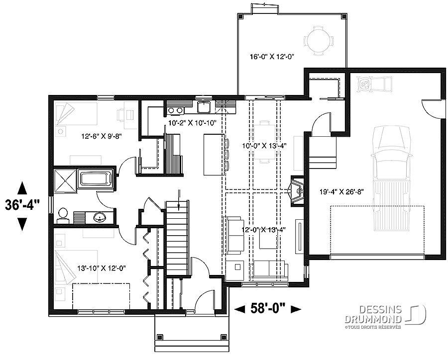 Plan De Maison Unifamiliale Barrington 2 No 3153 V1 En 2019