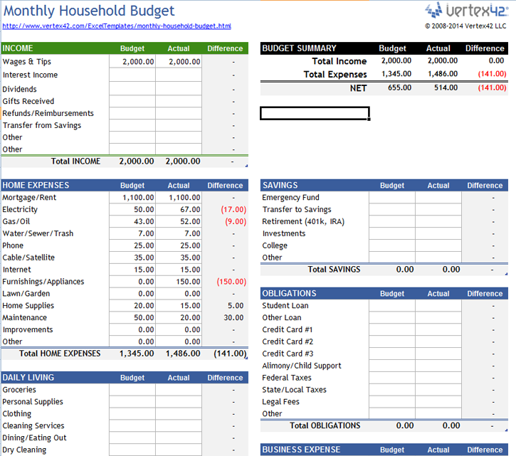 office spreadsheet templates