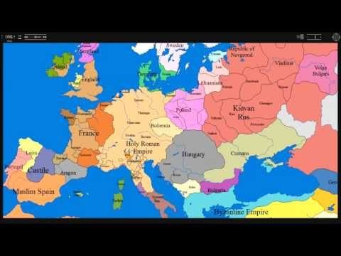map of europe 1000 ad to present day hd timeline cartography