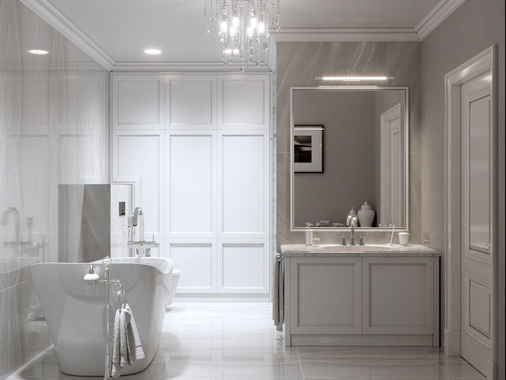 34 gorgeous gray master bathroom ideas  lavatory design